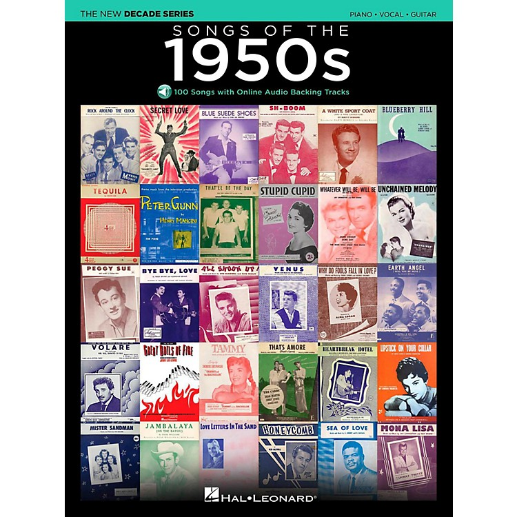 Hal LeonardSongs Of The 1950's - The New Decade Series with Optional Online Play-Along Backing Tracks