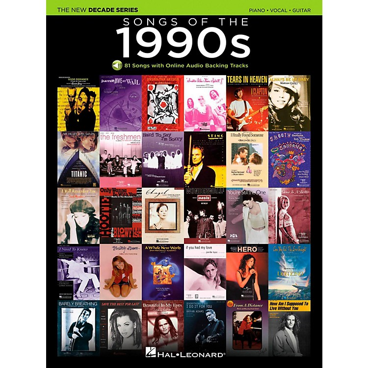 Hal Leonard Songs Of The 1990's - The New Decade Series with Optional Online Play-Along Backing Tracks