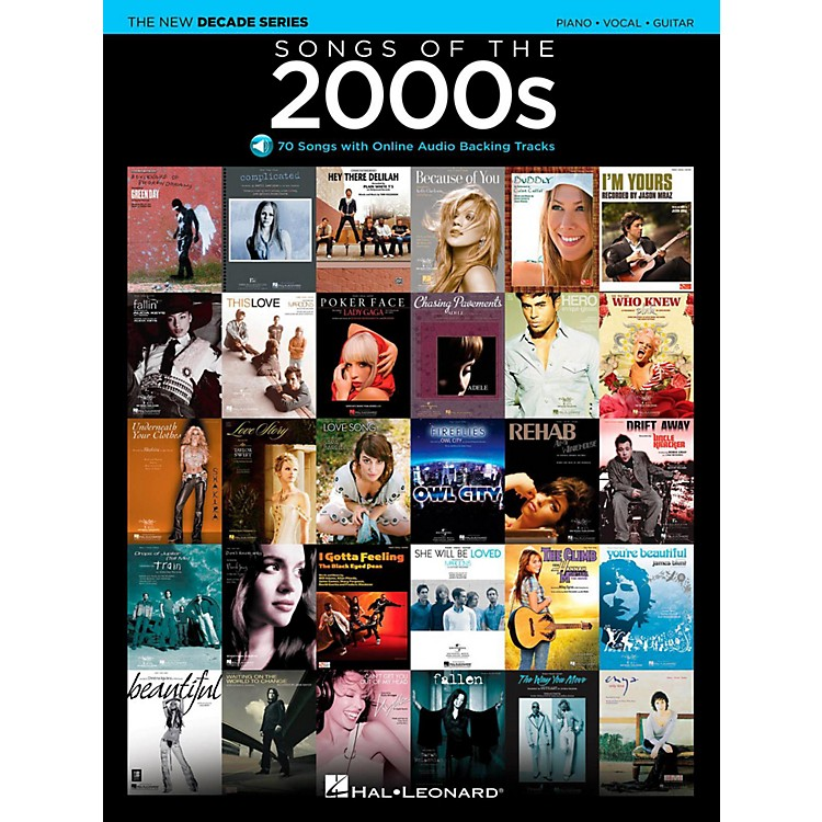 Hal LeonardSongs Of The 2000's - The New Decade Series with Optional Online Play-Along Backing Tracks