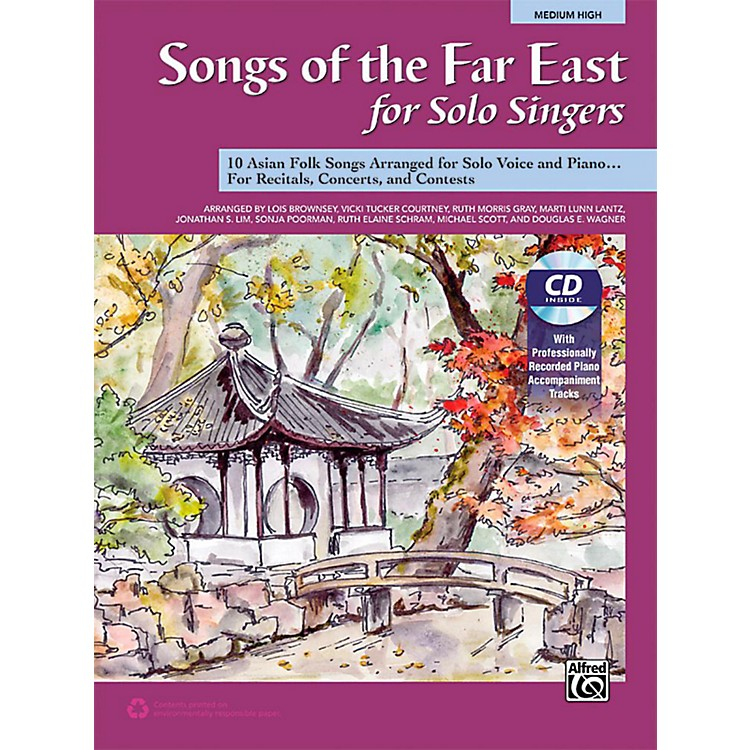 AlfredSongs of the Far East for Solo Singers Book & Acc. CD Medium High