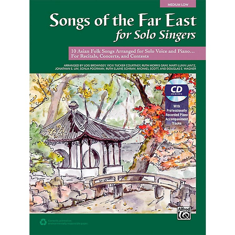AlfredSongs of the Far East for Solo Singers Book & Acc. CD Medium Low