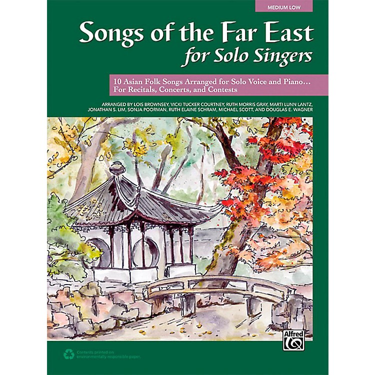 AlfredSongs of the Far East for Solo Singers Book Medium Low