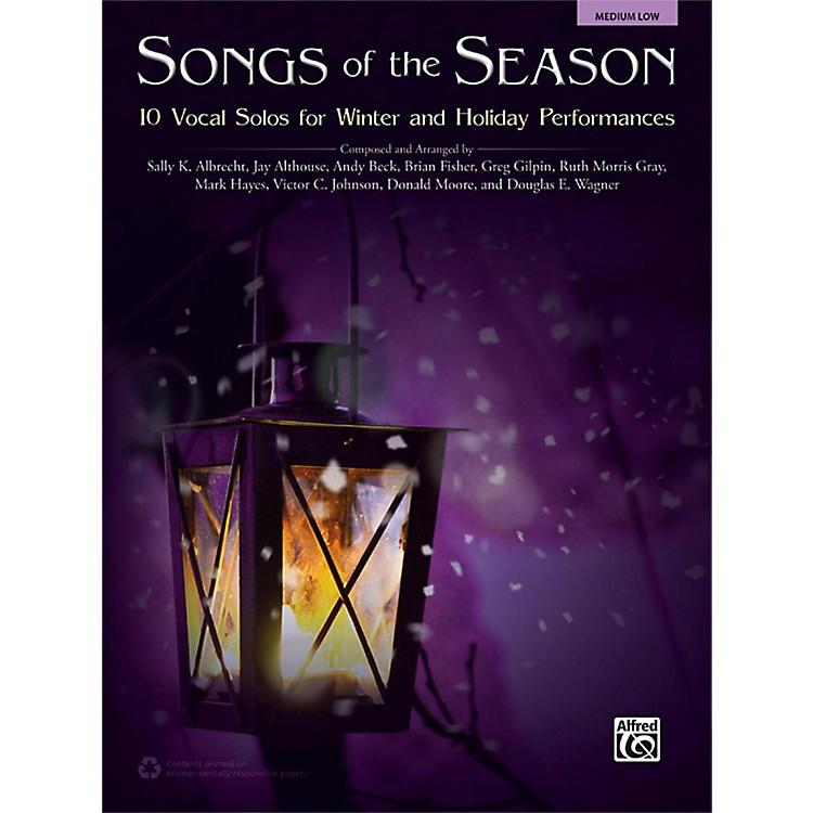 AlfredSongs of the Season Medium Low Acc. CD