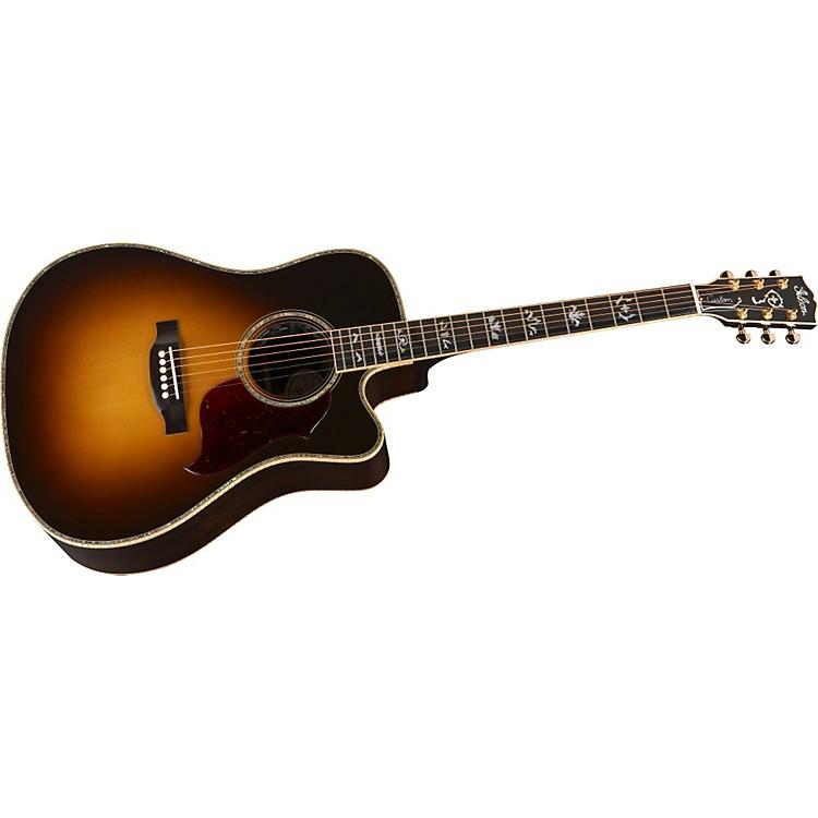 GibsonSongwriter Deluxe Custom EC Acoustic-Electric GuitarVintage Sunburst