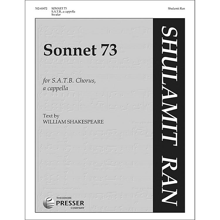Carl FischerSonnet 73 for SATB Chorus A Cappella
