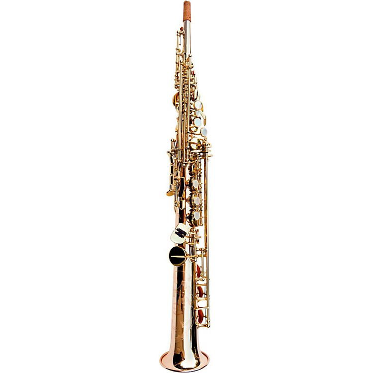 MACSAXSoprano SaxophoneRose Brass Clear Lacquer