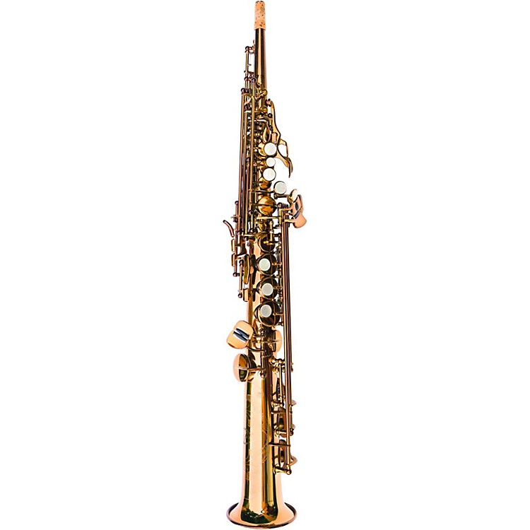 MACSAXSoprano SaxophoneRose Brass Dark Gold Lacquer