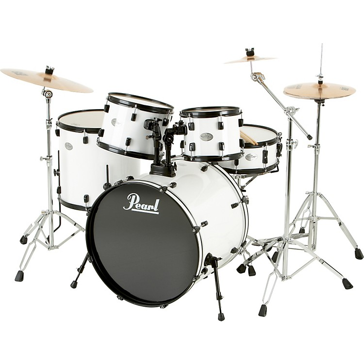 Pearl Sound Check 5-Piece Shell Pack White/Black