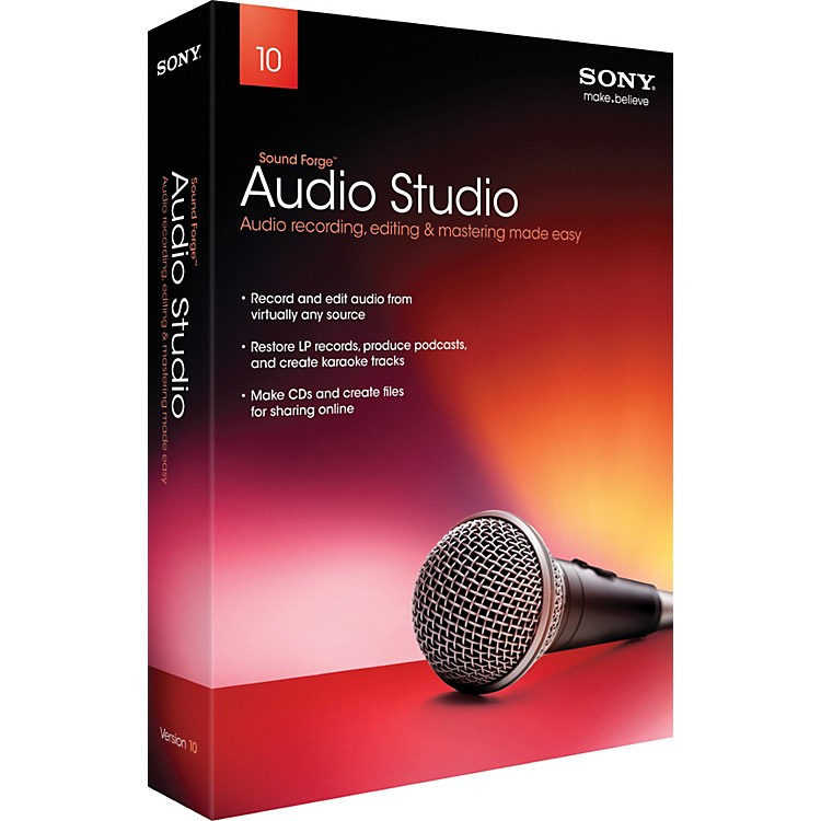SonySound Forge Audio Studio 10 - 2011