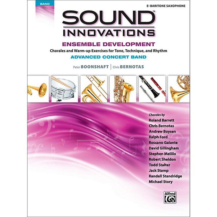 Alfred Sound Innovations Concert Band Ensemble Development Advanced Baritone Saxophone&