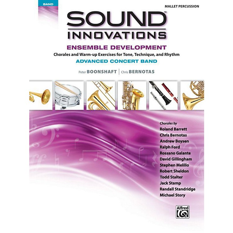 Alfred Sound Innovations Concert Band Ensemble Development Advanced Mallet Percussion