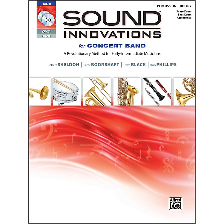 AlfredSound Innovations for Concert Band Book 2 Percus,Sn,Bass/Acc. Book CD/DVD