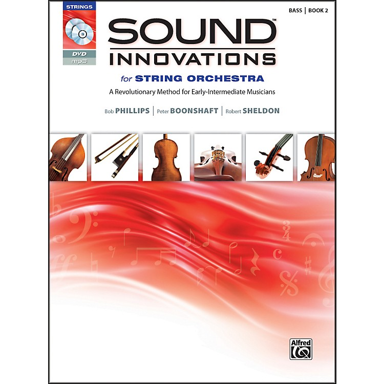 AlfredSound Innovations for String Orchestra Book 2 Bass Book CD/DVD