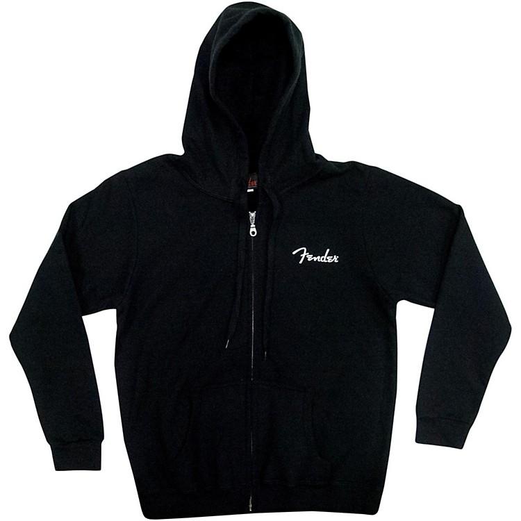 FenderSpaghetti Logo Ladies HoodieBlackMedium