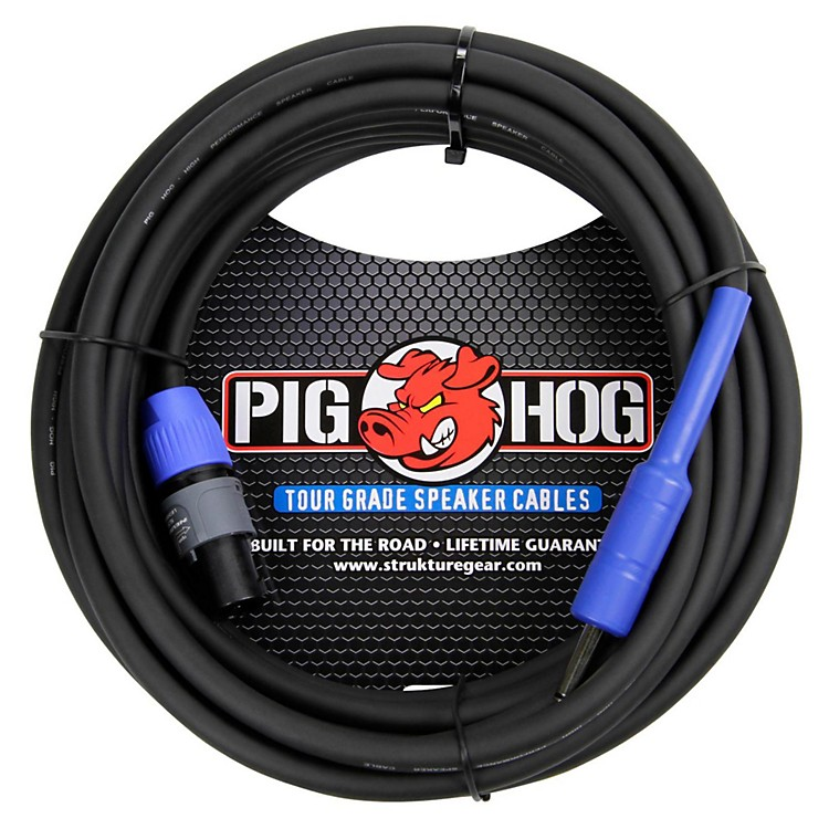 Pig Hog Speaker Cable SPKON to 1/4