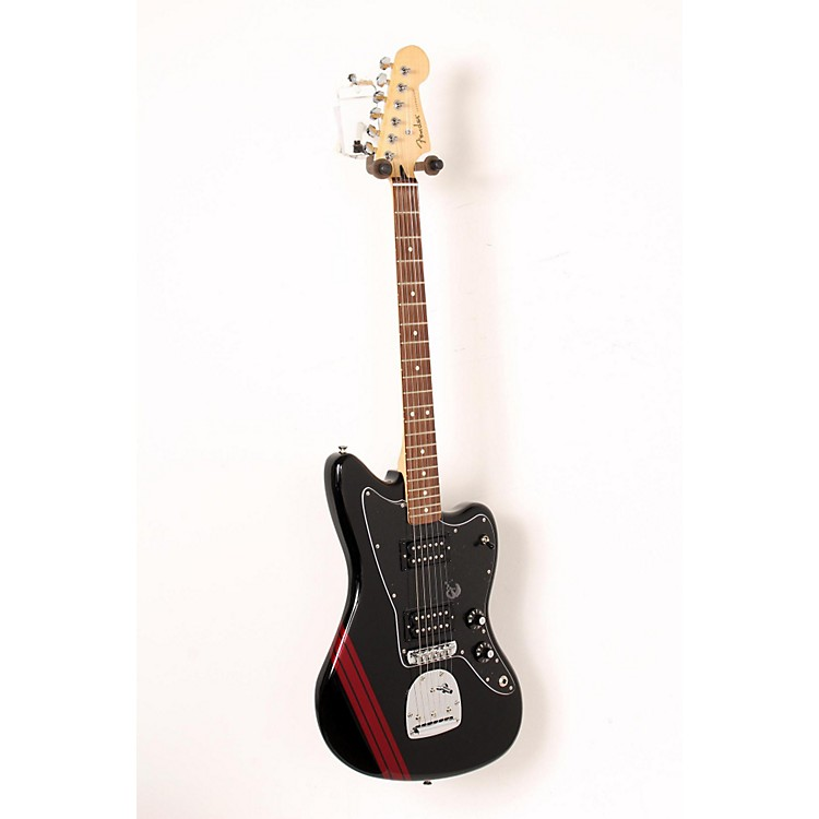 Fender Special Edition Blacktop HH Jazzmaster Electric Guitar Black with Stripe 888365917573