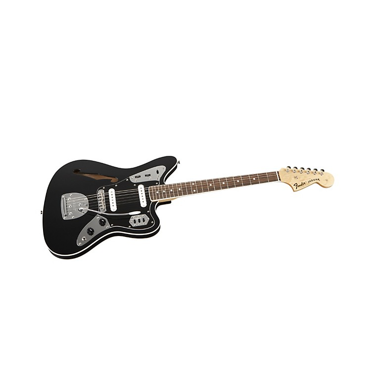 Fender Special Edition Jaguar Thinline Electric Guitar Black Rosewood Fingerboard