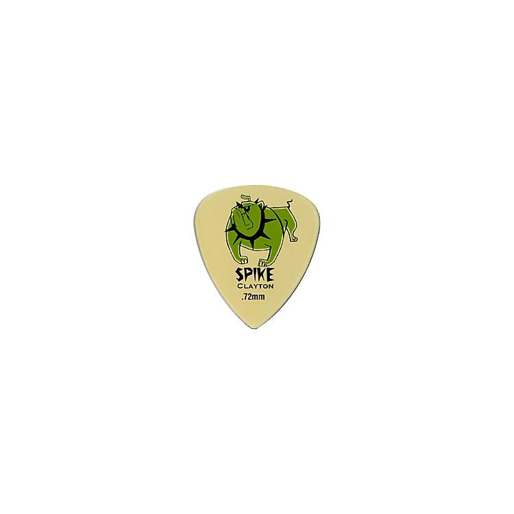 ClaytonSpike Ultem Gold Sharp Standard Guitar Picks 1 Dozen.80 mm