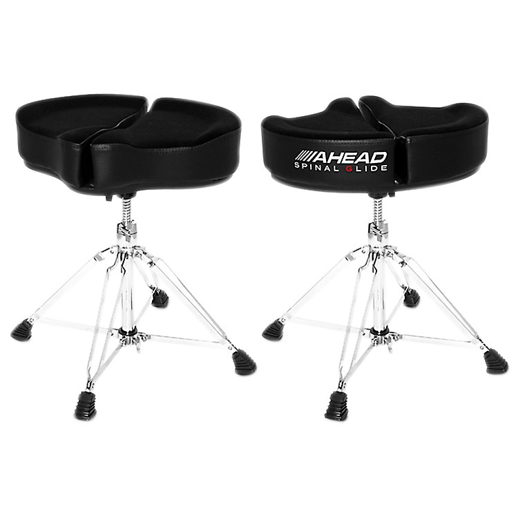 AheadSpinal G Drum ThroneBlack Cloth Top and Black Sides18 in.