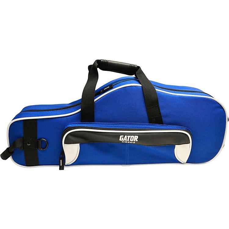 GatorSpirit Series Lightweight Alto Saxophone CaseWhite and Blue