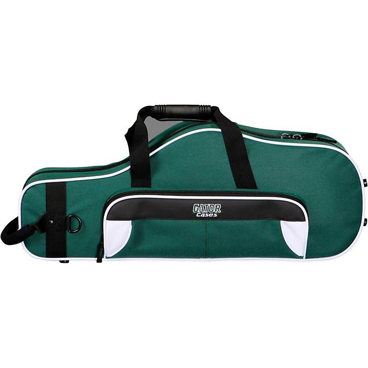 GatorSpirit Series Lightweight Alto Saxophone CaseWhite and Green