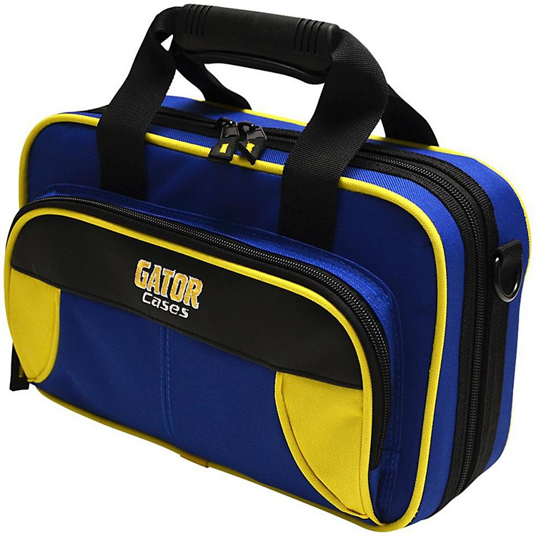 Gator Spirit Series Lightweight Clarinet Case Yellow and Blue