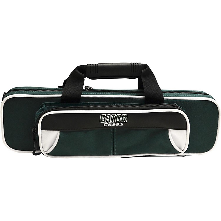 Gator Spirit Series Lightweight Flute Case White and Green