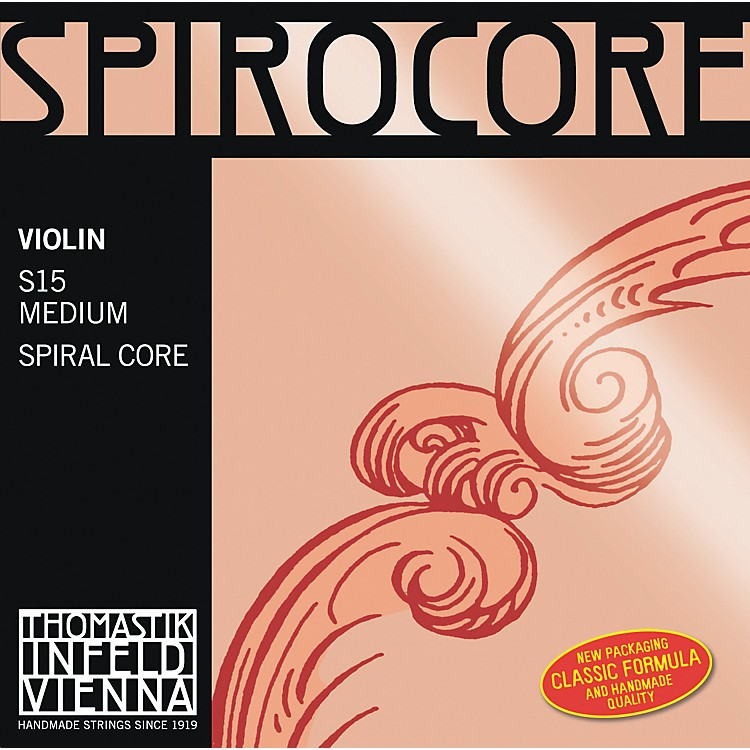 Thomastik Spirocore 4/4 Size Violin Strings 4/4 Set, Chrome Wound E String