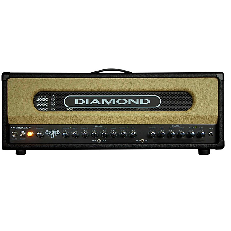 Diamond Amplification Spitfire II USA Custom Series 50W/100W Tube Guitar Amp Head Black