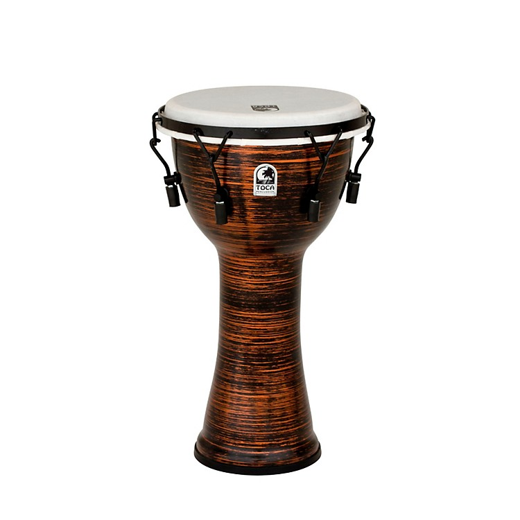 Toca Spun Copper Mechanically Tuned Djembe 10 in.