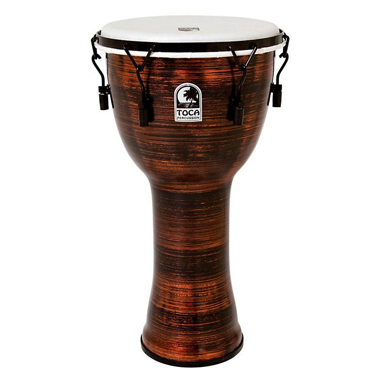 Toca Spun Copper Mechanically Tuned Djembe 12 in.