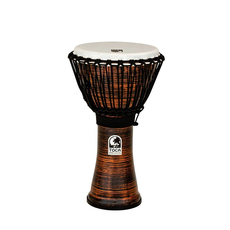Toca Spun Copper Rope Tuned Djembe 10 in.