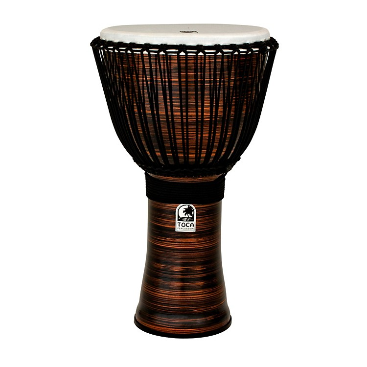 TocaSpun Copper Rope Tuned Djembe with Bag14 Inch
