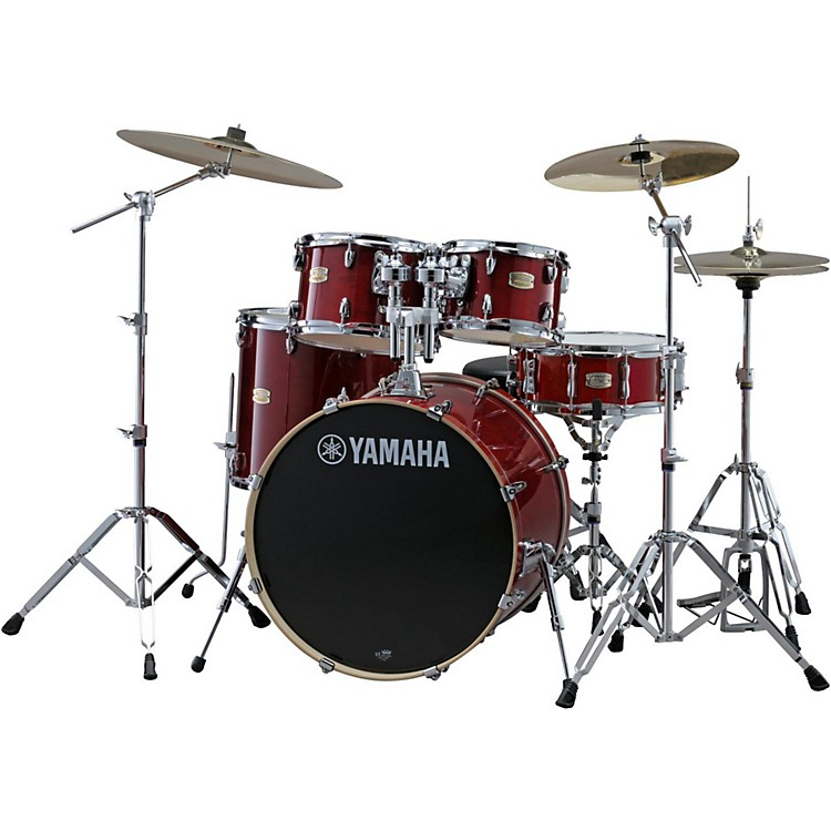 YamahaStage Custom Birch 5-Piece Shell Pack with 20 inch Bass DrumCranberry Red