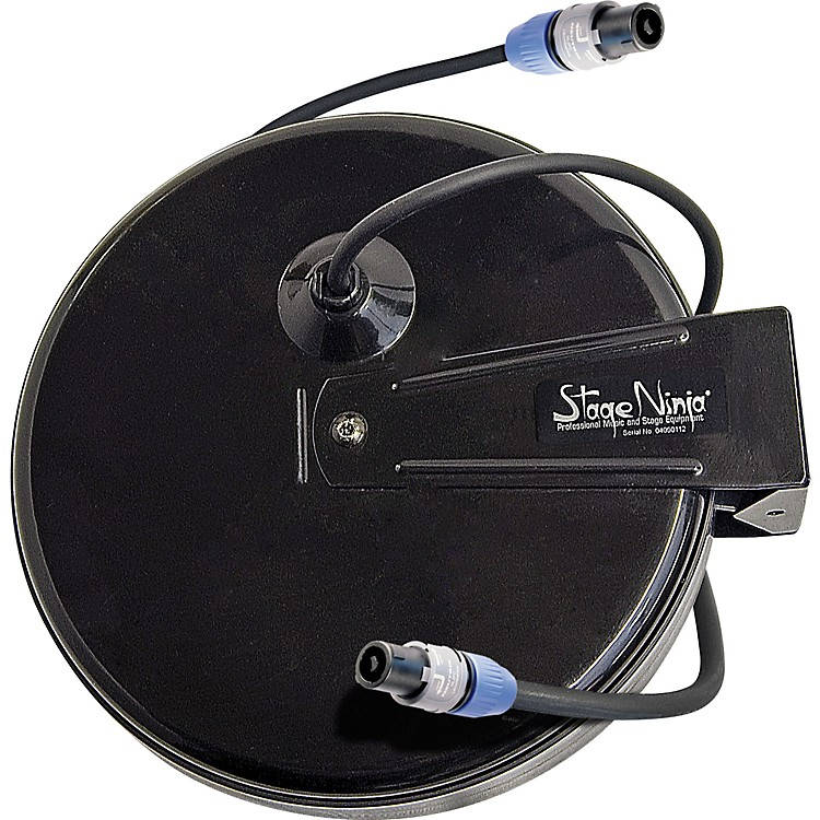 Stage Ninja Stage Ninja Retractable Speaker Cable (Speakon) with Neutrik NL2FC  Series Connectors Black