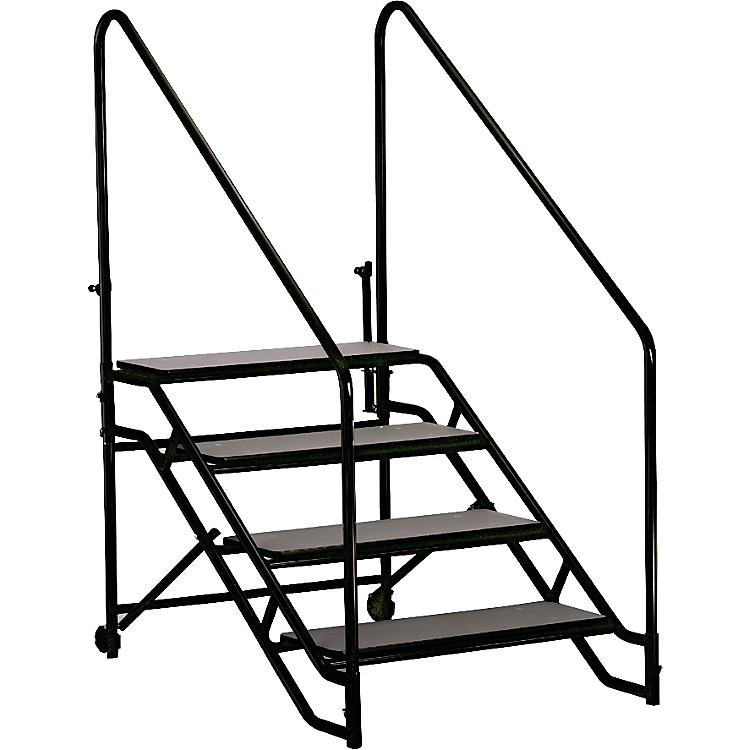 Midwest Folding Products Stage & Seated Risers Steps For 32 in.-40 in. High, 4 Steps