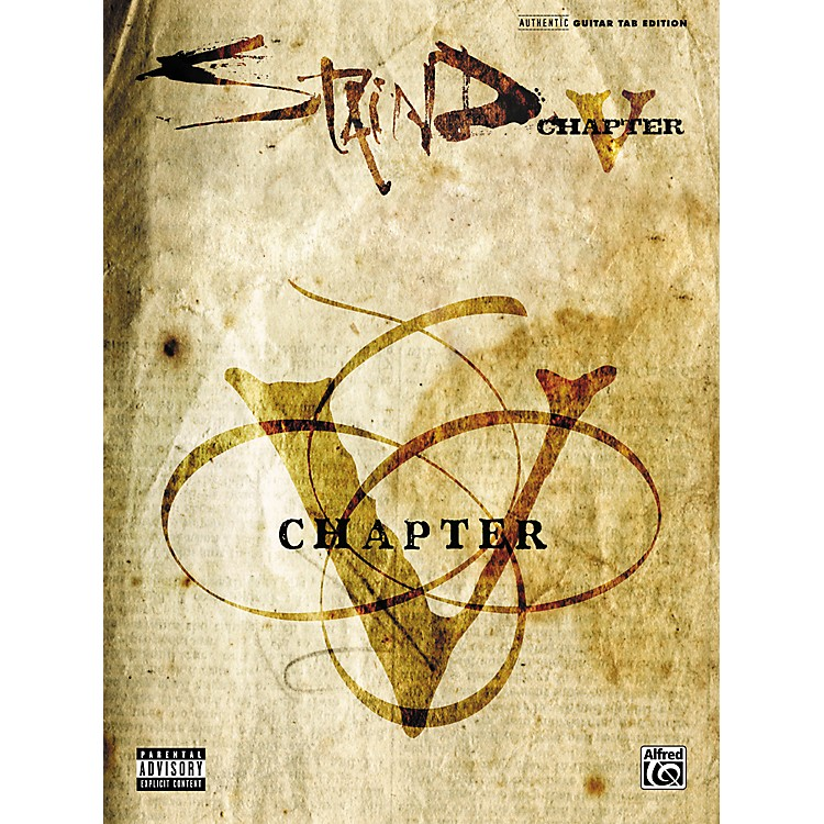 Alfred Staind Chapter V Guitar Tab Songbook