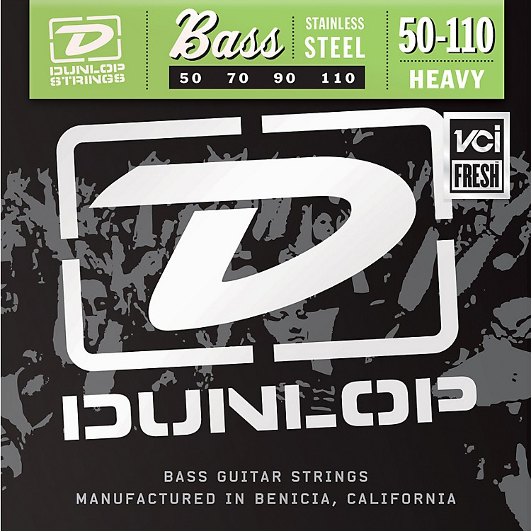 DunlopStainless Steel Bass Strings - Heavy
