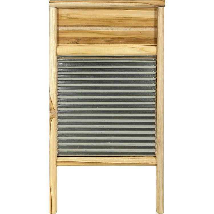 Columbus Washboard Stainless Washboard Teak 12-7/16x23-3/4 in.