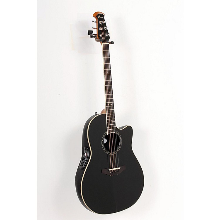 Ovation Standard Balladeer 1771 AX Acoustic-Electric Guitar Black 888365133881