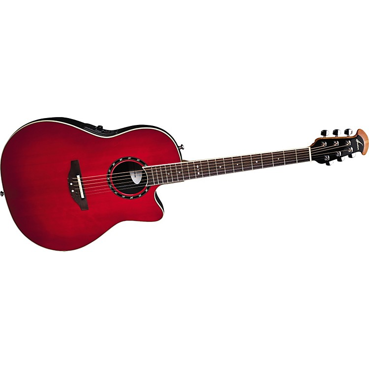 Ovation Standard Balladeer 1861 AX Acoustic-Electric Guitar Cherry Cherry Burst