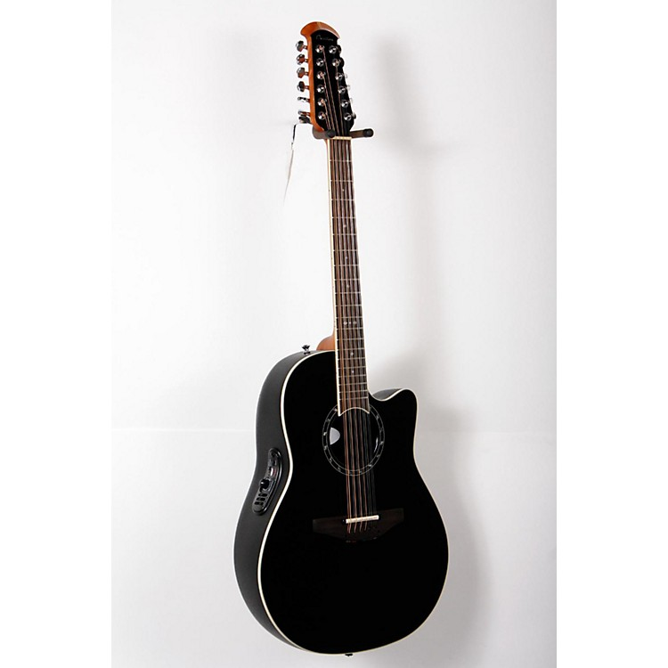 Ovation Standard Balladeer 2751 AX 12-String Acoustic-Electric Guitar Black 888365805085