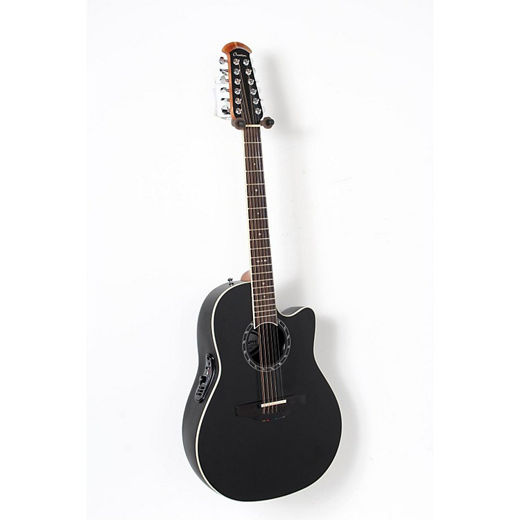 Ovation Standard Balladeer 2751 AX 12-String Acoustic-Electric Guitar Black 888365911007