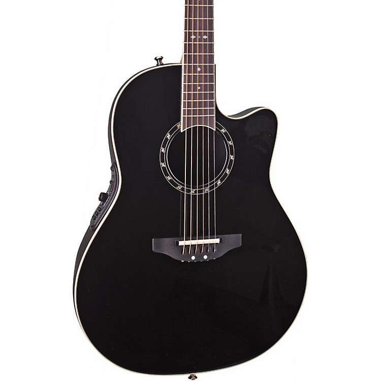 Ovation Standard Balladeer 2771 AX Acoustic-Electric Guitar Black