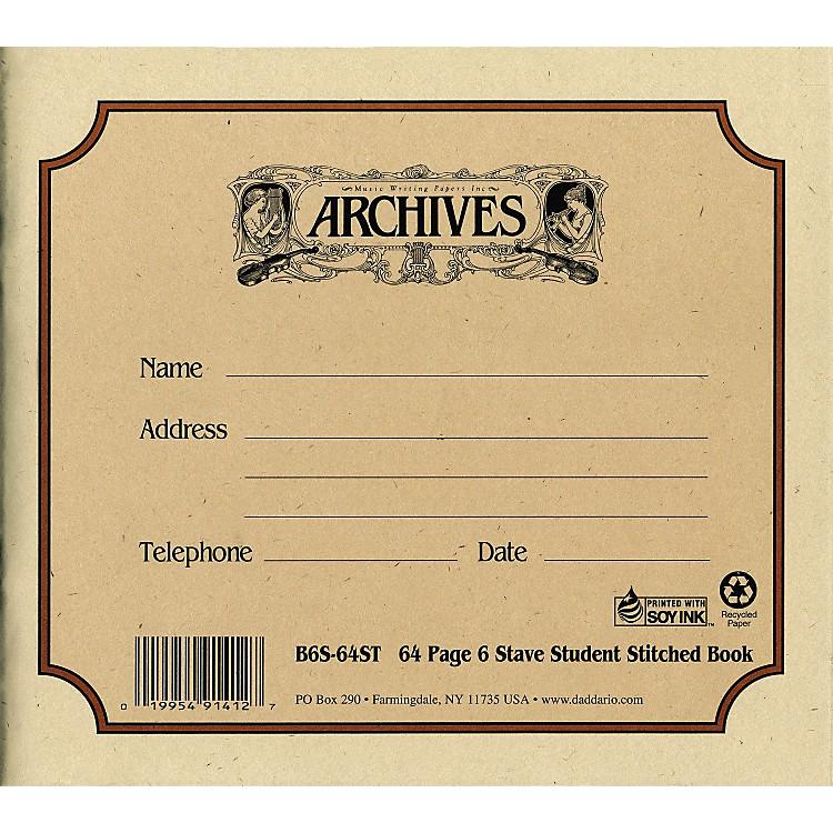 ArchivesStandard Bound Manuscript Paper6 Staves 24 Sheets