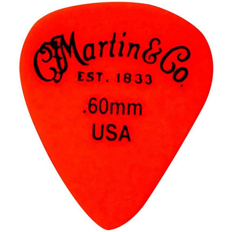MartinStandard Delrin Guitar PickRed 50mm72 Pieces