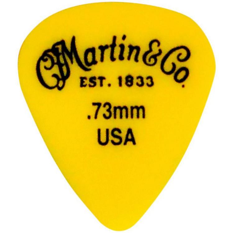 MartinStandard Delrin Guitar PickYellow 73mm72 Pieces