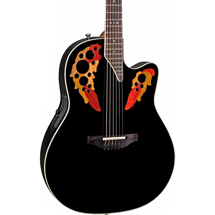 Ovation Standard Elite 2778 AX Acoustic-Electric Guitar Black
