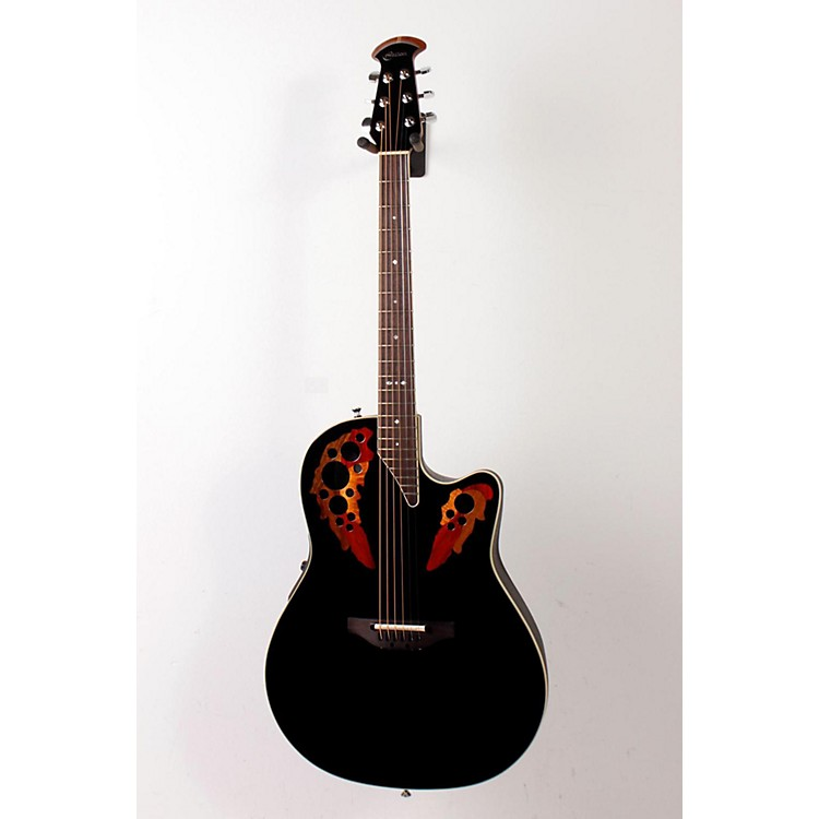 Ovation Standard Elite 6868 AX Acoustic-Electric Guitar Black 888365160467