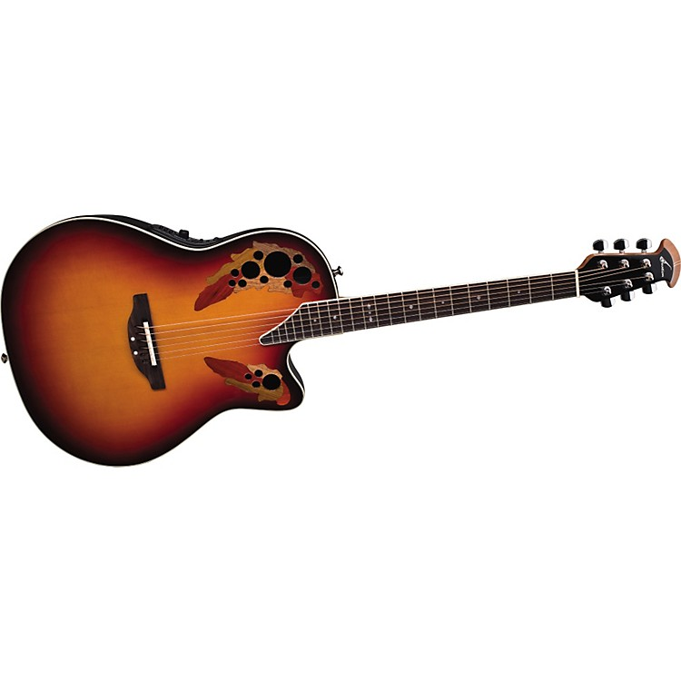 Ovation Standard Elite 6868 AX Acoustic-Electric Guitar New England Burst